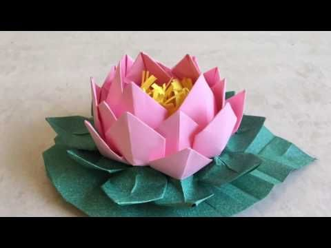 How to make amazing origami lotus diy paper crafts paper flowers how to make amazing origami lotus diy paper crafts paper flowers youtube mightylinksfo