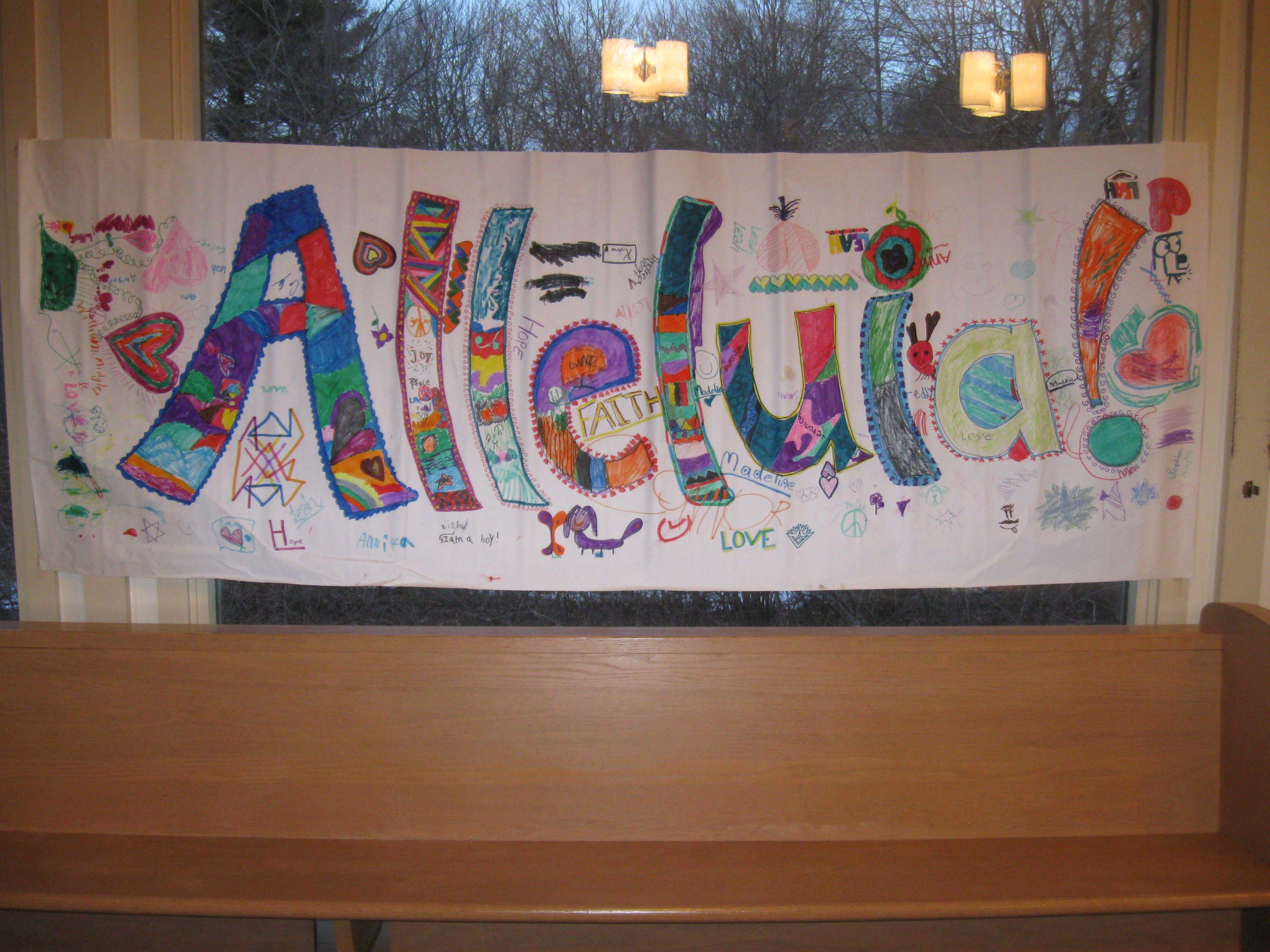 Alleluia Banner Colorful Sunday School Lent Easter Sunday School