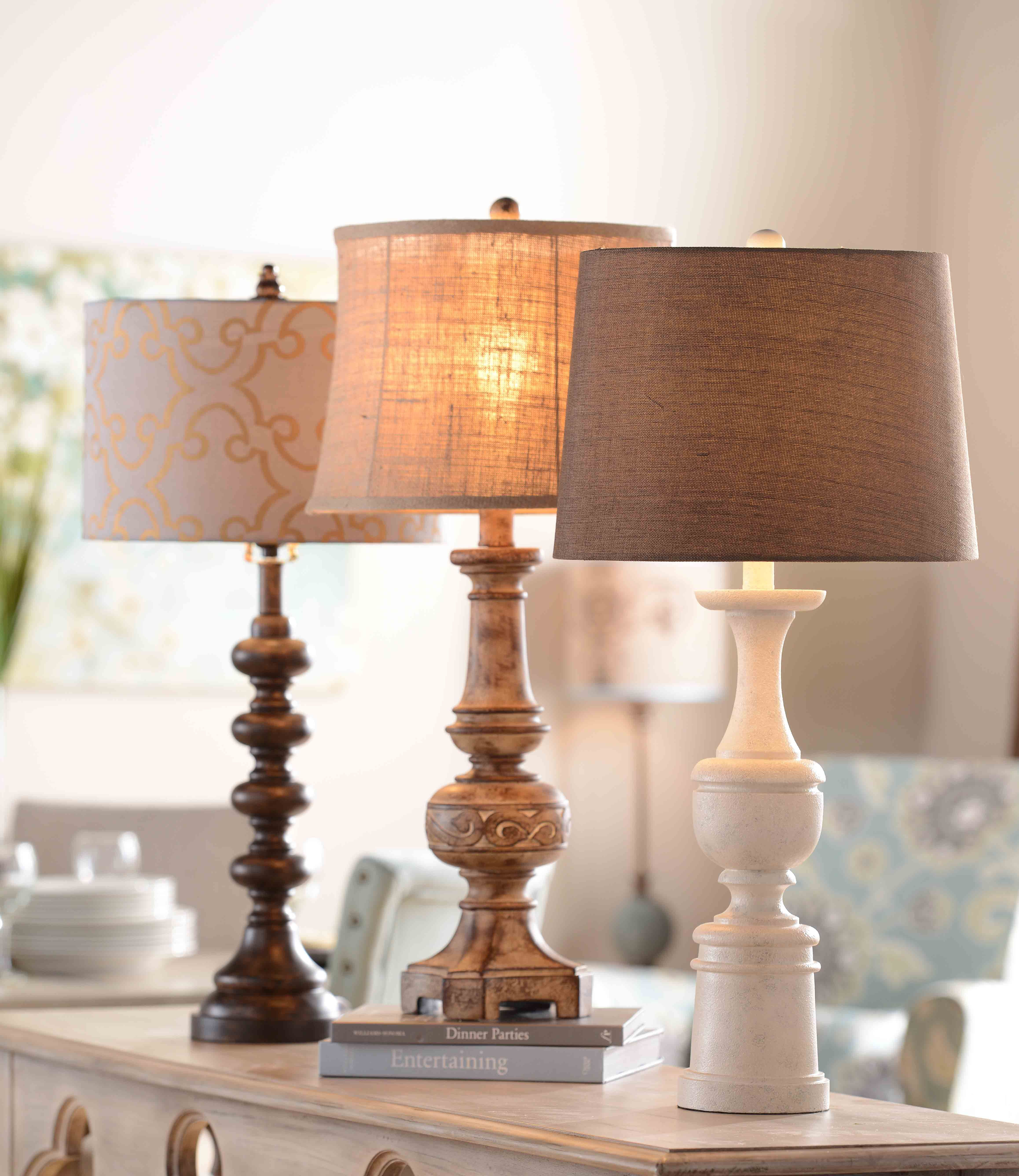 Eclectic With A Touch Of Elegance Kirklands Eclecticelegance Tablelamps Home Farm House Living Room Modern Farmhouse Decor #touch #living #room #lamps