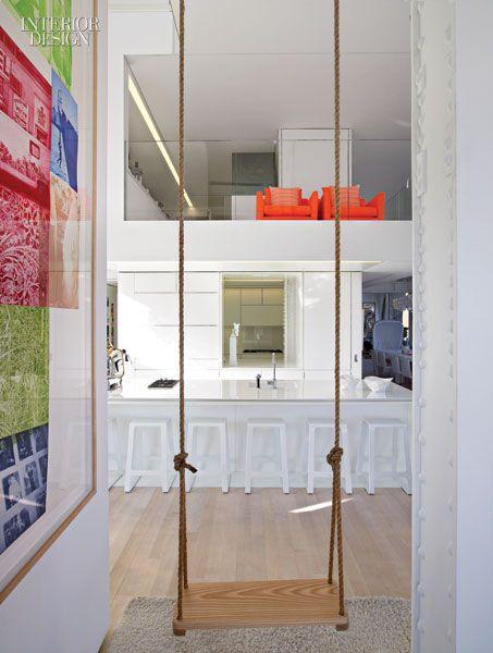 balancoire interieure inspiration dco couloir chalet maison magasine de design d