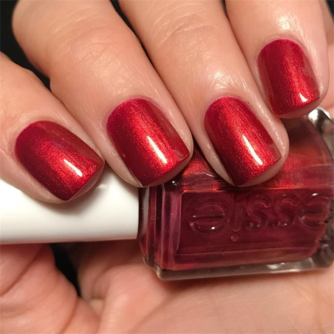 Essie Ring in the Bling...the perfect holiday red!! | Nailed it ...