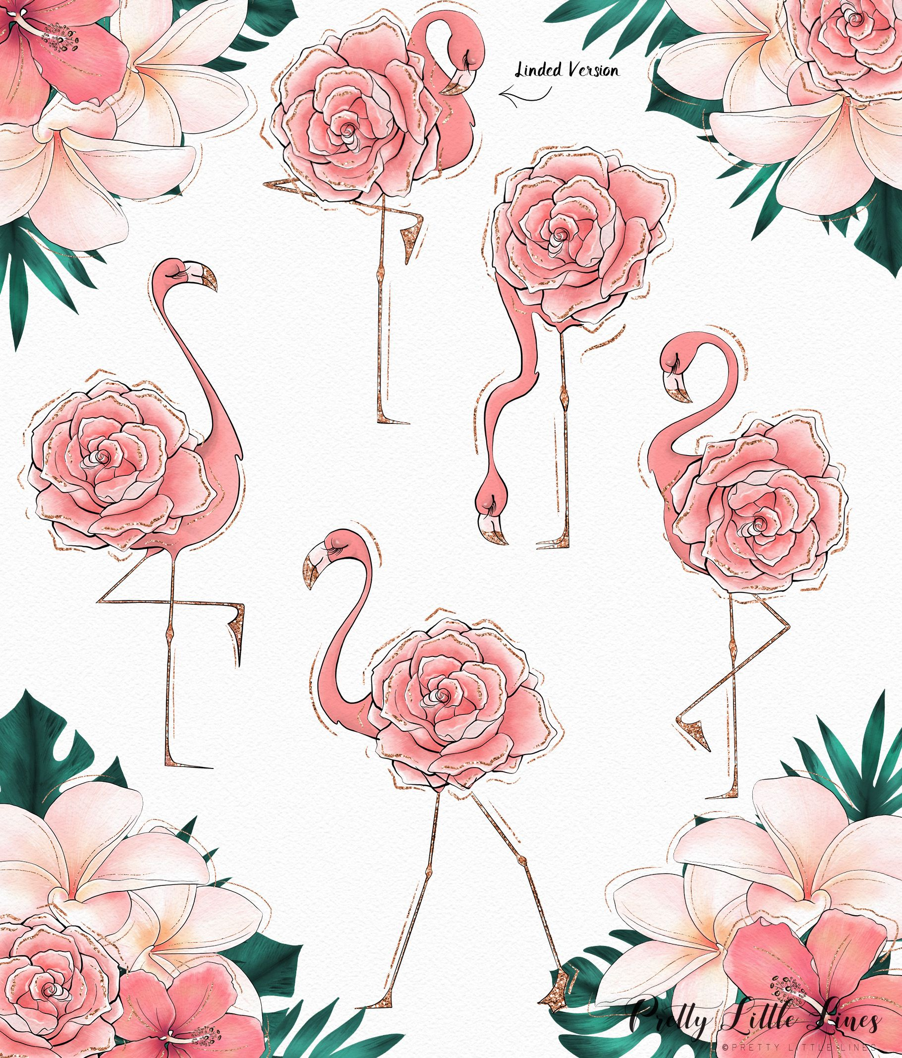 hight resolution of flamingo clipart