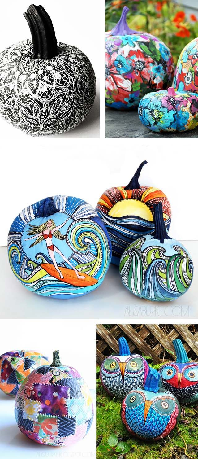 76 Perfectly Painted Pumpkins, No Carve, for Halloween