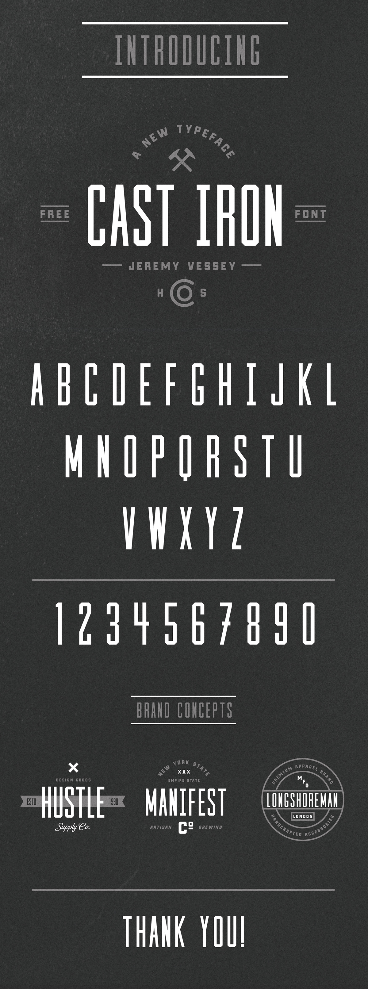 A and free condensed sansserif font, courtesy of