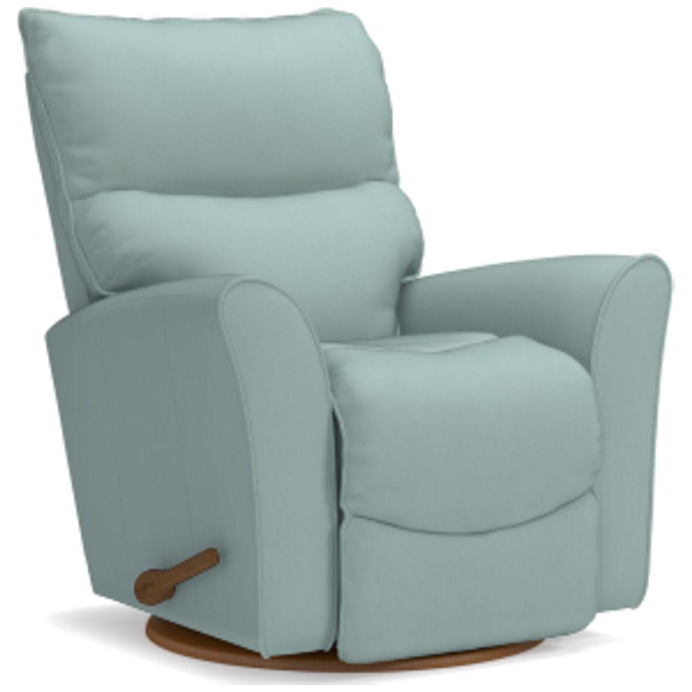 Best Rowan Gliding Recliner Recliner Blue Leather Chair 400 x 300