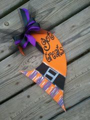 **Whimsical & Funky*** Witch Hat Door Hanger - $25
