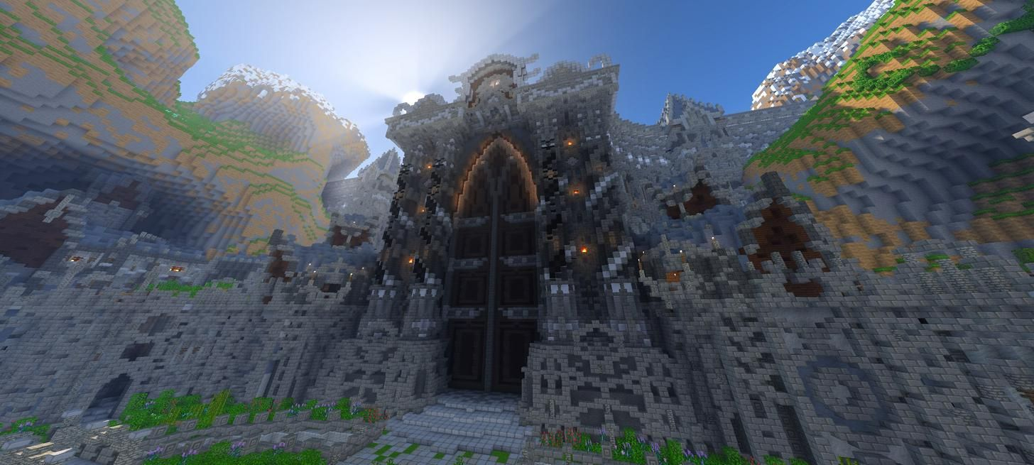 A Minecraft Mmorpg I Ve Been Working On Fulltime For 4 Years Mmorpg Natural Landmarks Minecraft