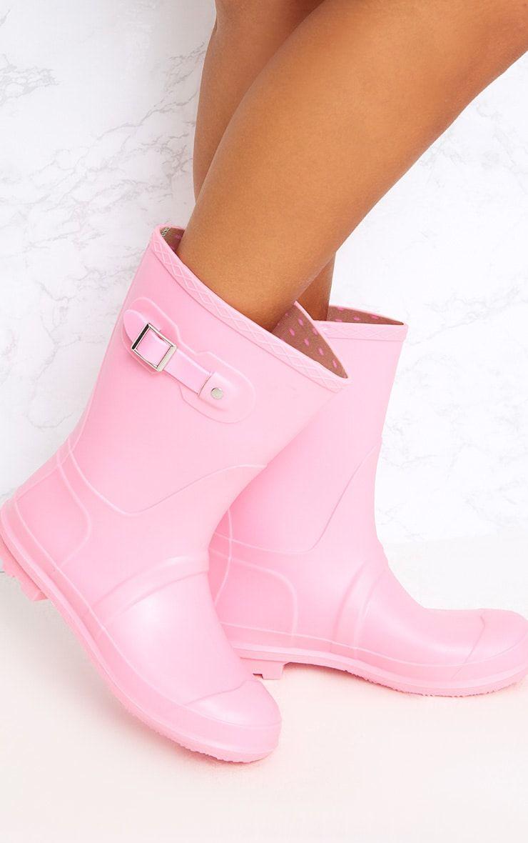 Baby Pink Short Wellies | Short wellies