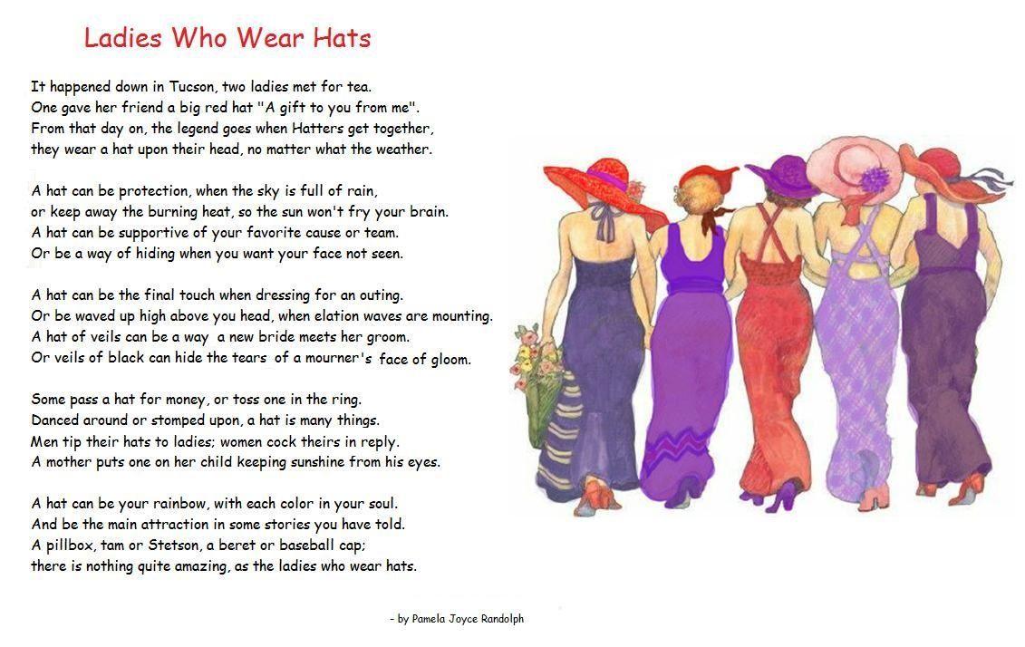 Ladies Who Wear Hats An Original Poem By Pamela Joyce Randolph