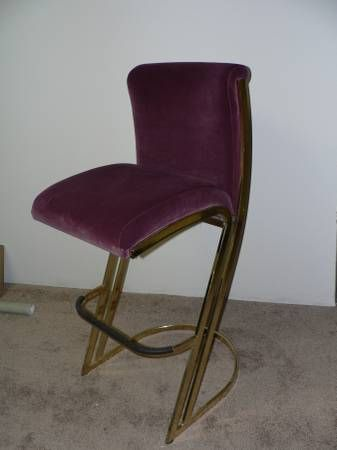 Velvet And Brass Bar Stool 50 Too Bad There Is Not A