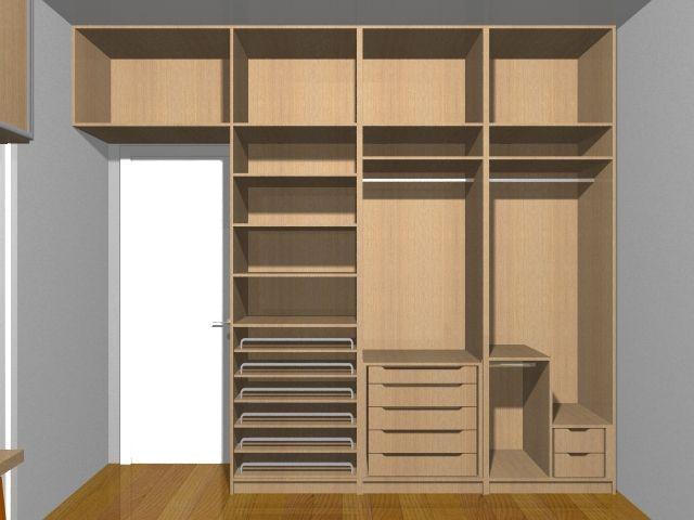 quarto planejado casal pequeno Pesquisa Google Quarto  ~ Quarto Planejado Pequeno Casal Com Closet