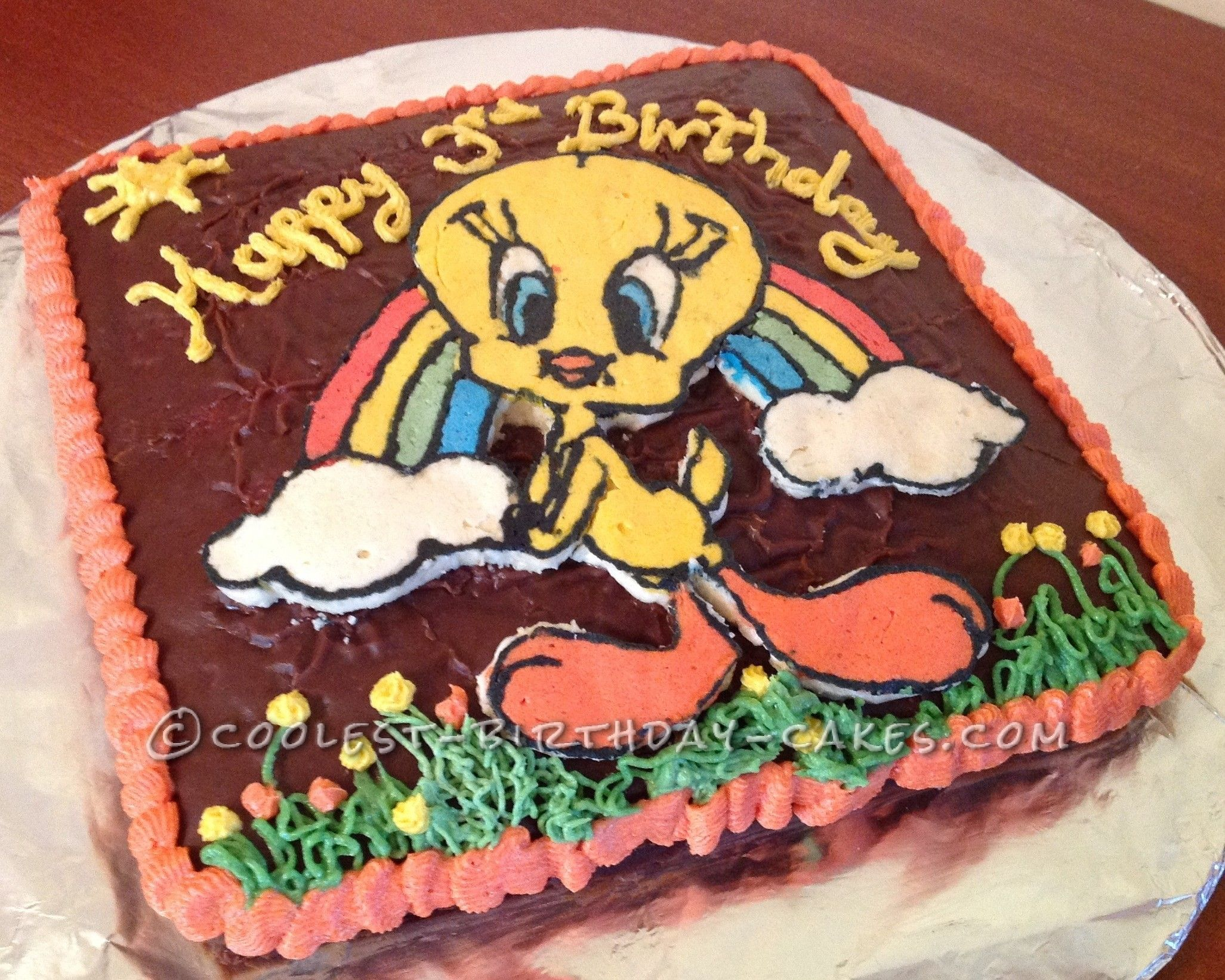 Easy Tweety Bird 3rd Birthday Cake This Website Is The Pinterest Of Ideas