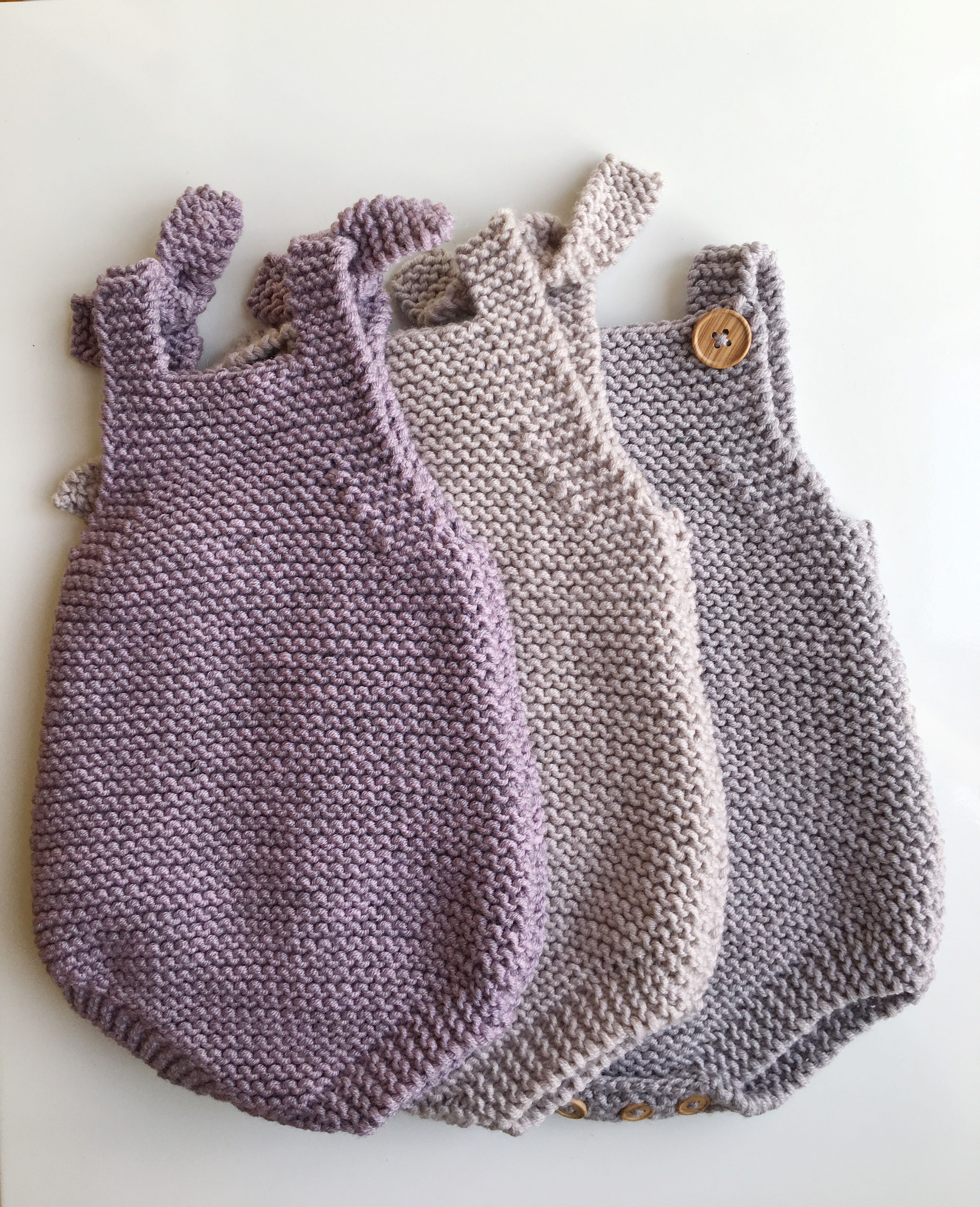 e7e1abcdcac3 Baby All-In-One Knitting Pattern - Eve Romper PDF Knitting Pattern ...