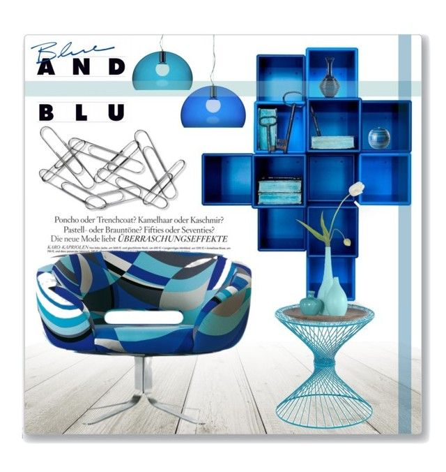 """""""Blue And Blu"""" by leanne-mcclean ❤ liked on Polyvore featuring interior, interiors, interior design, home, home decor, interior decorating, WALL, Melissa, Home Decorators Collection and Cappellini"""