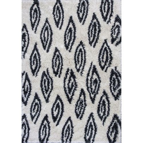 Delano Ivory and Charcoal Rectangular: 3 Ft. 3-Inch x 5 Ft. 3-Inch Rug
