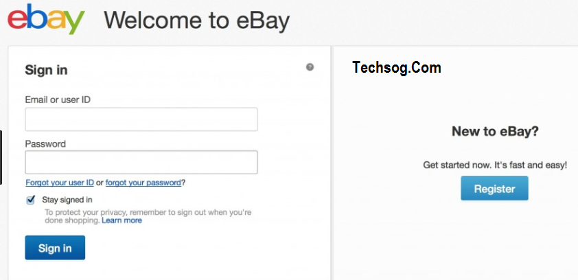 Ebay Login Ebay Sign In Www Ebay Com Log In To My Ebay Account Techsog Facebook Mobile App Facebook App Download Facebook App