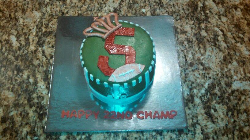 Sweet Funfetti Birthday Cake Inside - Football - bellodiviniacakes@yahoo.com