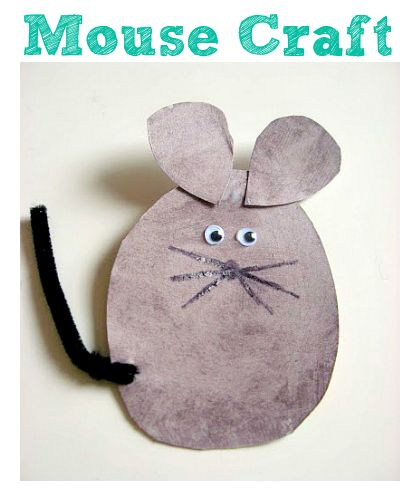 Mouse Craft For Kids - No Time For Flash Cards