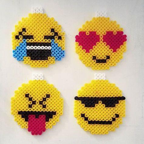 Emojis Hama Beads By Husochbus Perler Bead Emoji Hama Beads Design Perler Crafts