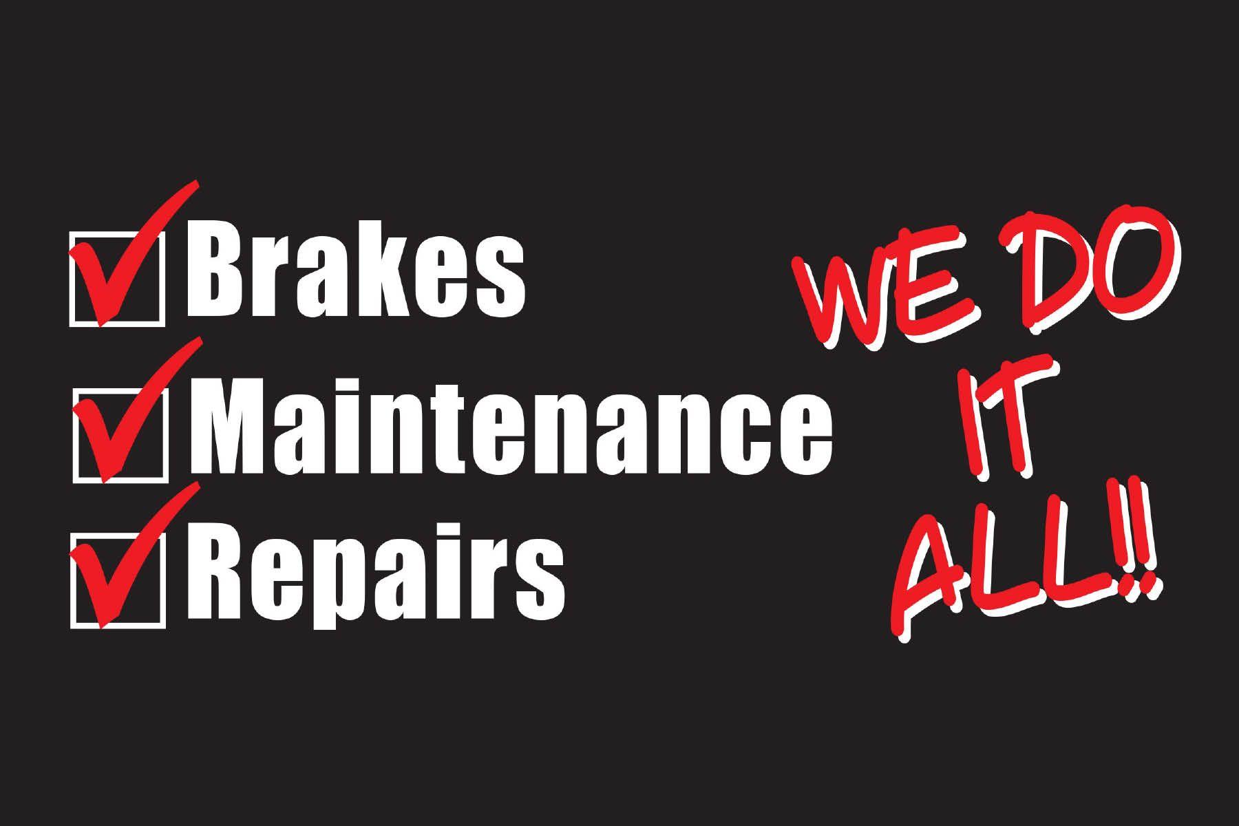 Auto repair shop slogans brakes plus oil change auto