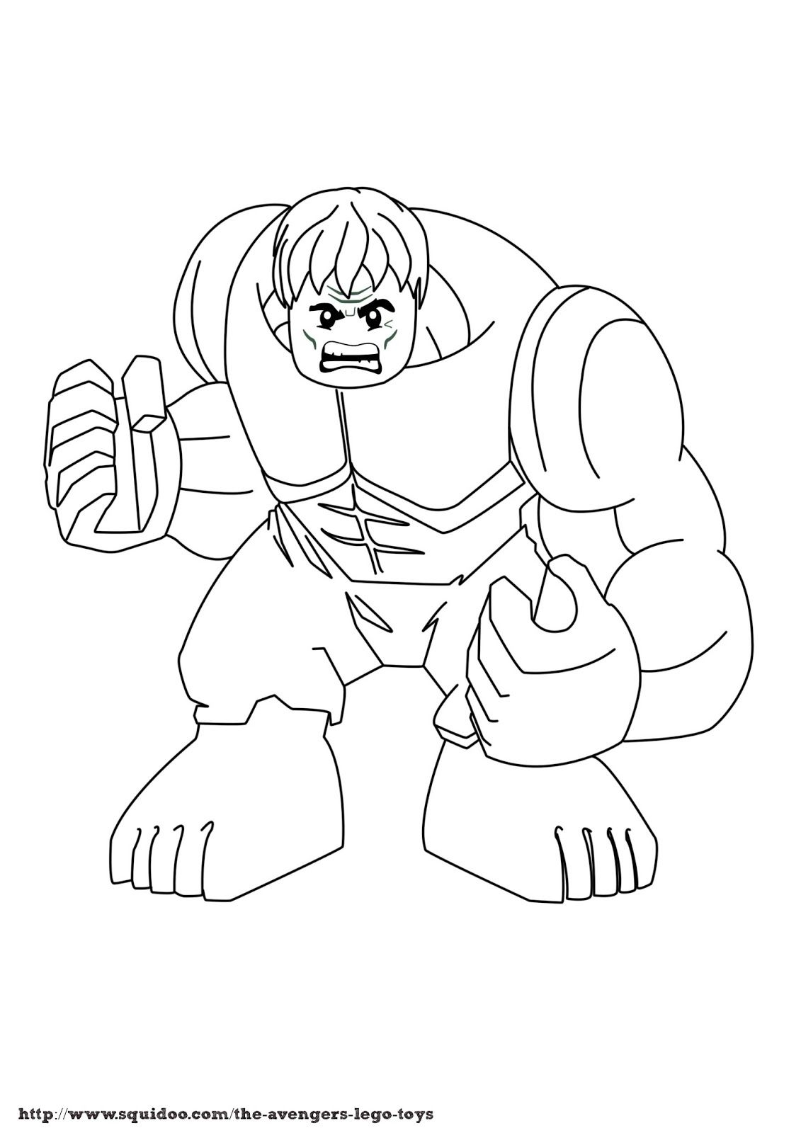 Hulk Lego Coloring Pages Gallery