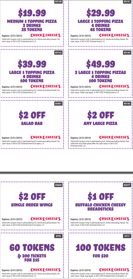 Chuck e cheese coupons january 2018 printable coupons free tokens fandeluxe Images