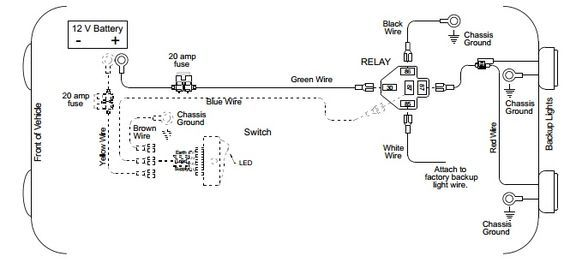 Backup Light Wiring Diagram Wiring Truck accessories