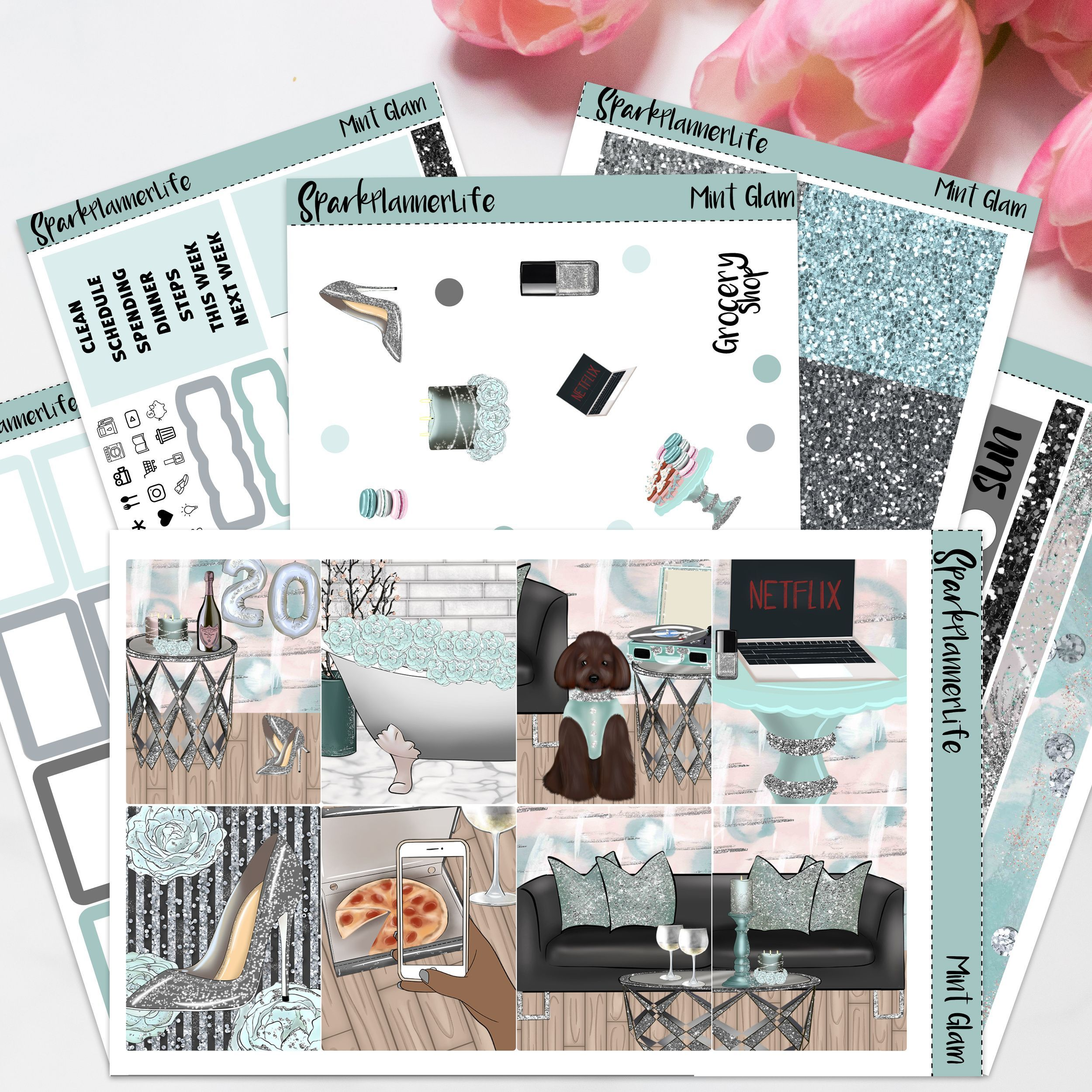 Planning in Blue Jeans Weekly Kit Daily Petite EC petite daily planner sticker kit