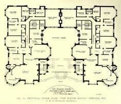 Floor plan of the Manor House, Chicago