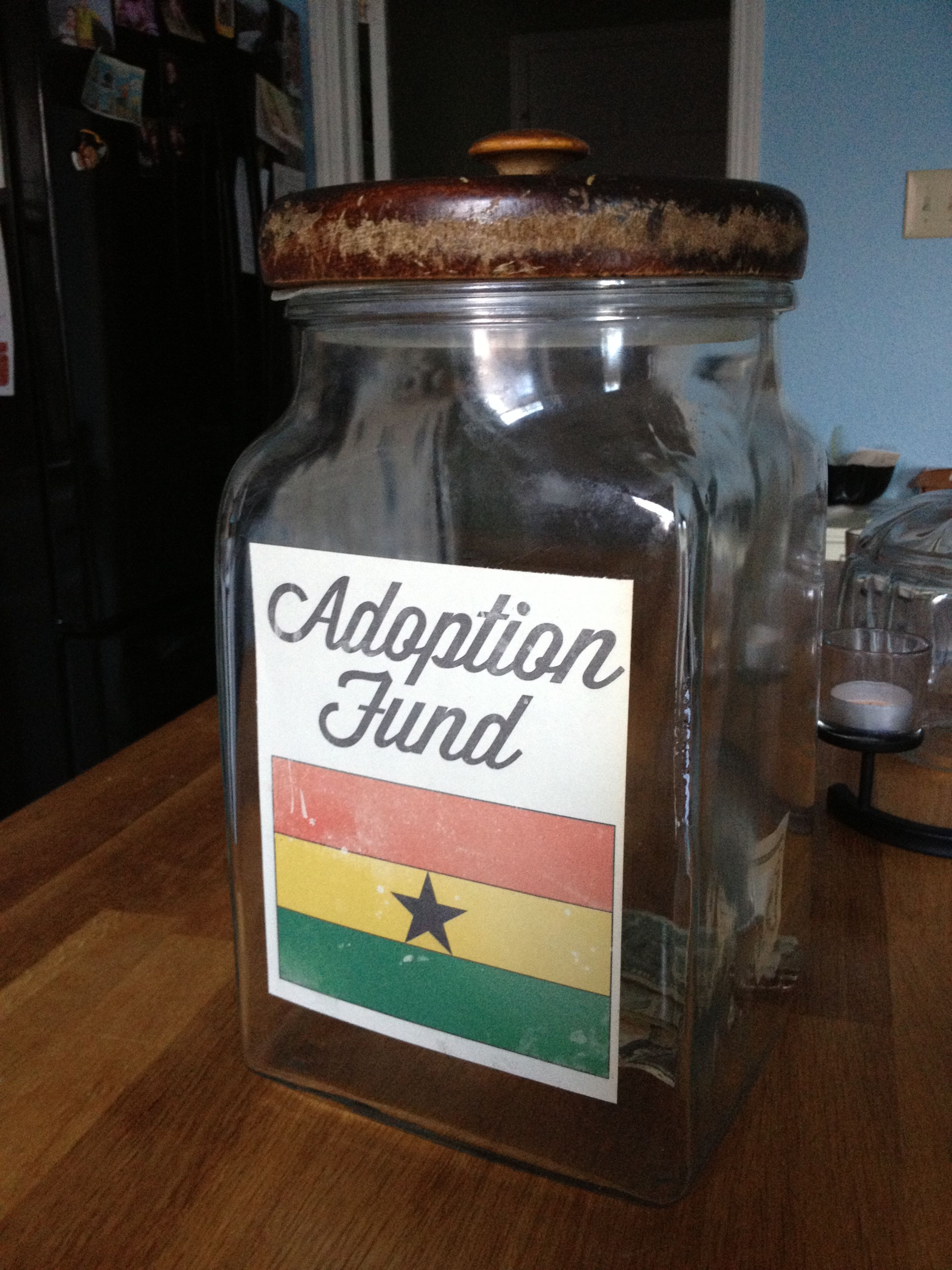 *FOR ERIN!*Adoption fund jar made from an antique cookie