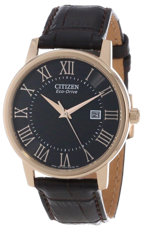Sale Off 25% Citizen Men s BM6759-03E Eco-Drive Brown Leather Strap Watch 18f10a258d7f
