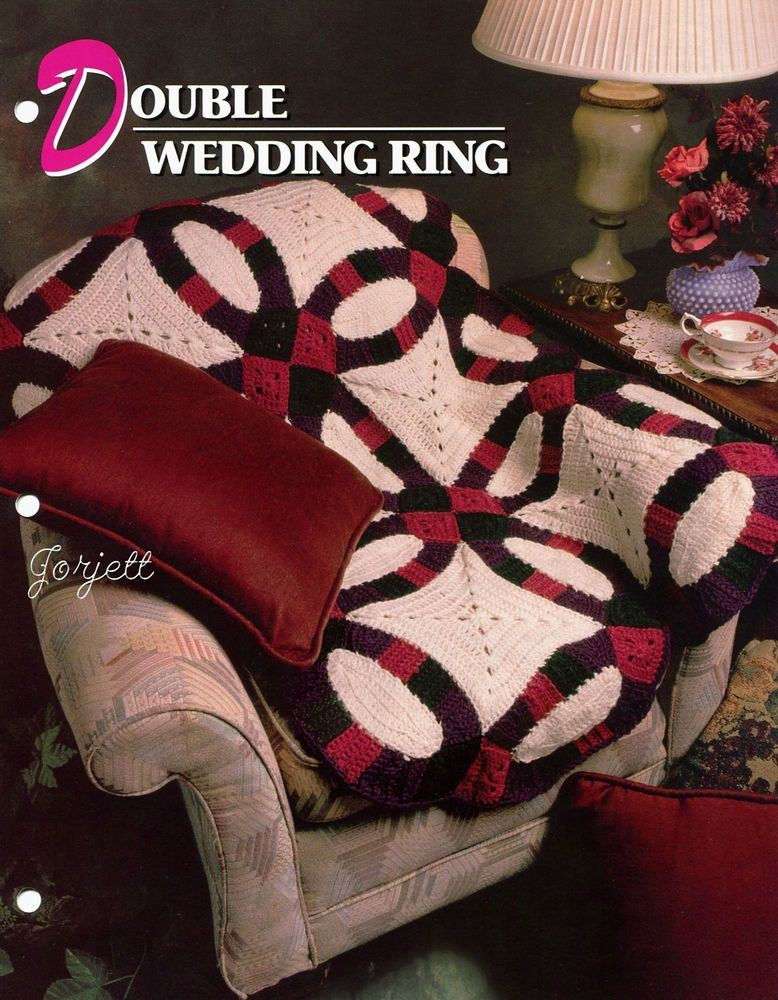 Double Wedding Ring Quilt Afghan, Annie\'s crochet pattern