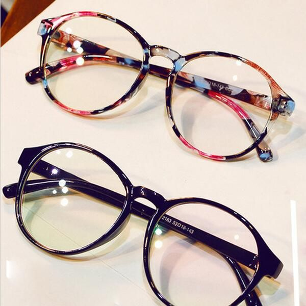 fashion glasses frames  Fashion Eyeglasses Frames Big Prescription Glass Frame Women Round ...