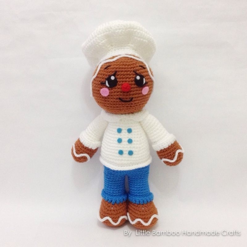 Gingerbread Baker amigurumi pattern by Little Bamboo Handmade ...