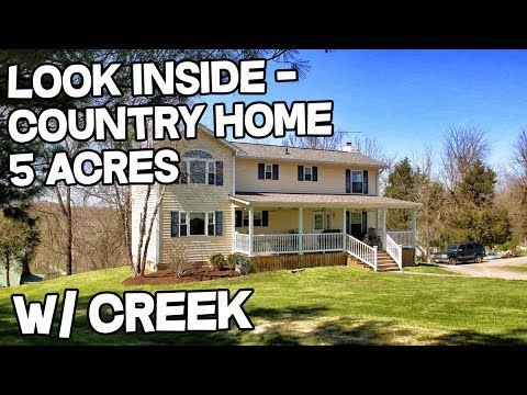 Beautiful Country Homes For Sale 5 Acres Creek Horses Welcome Real Estate In Danville Kentucky Country Homes For Sale Country House Multigenerational House