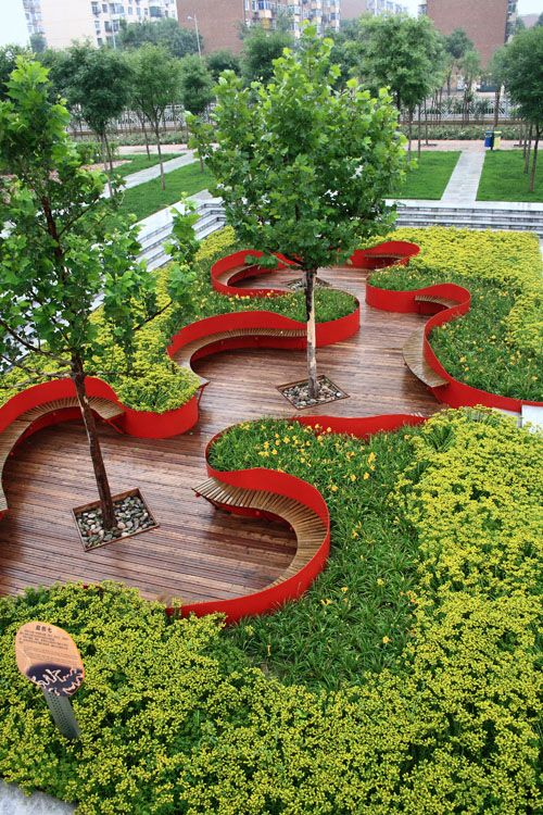 Urban park design google search parks pinterest for Red landscape architects