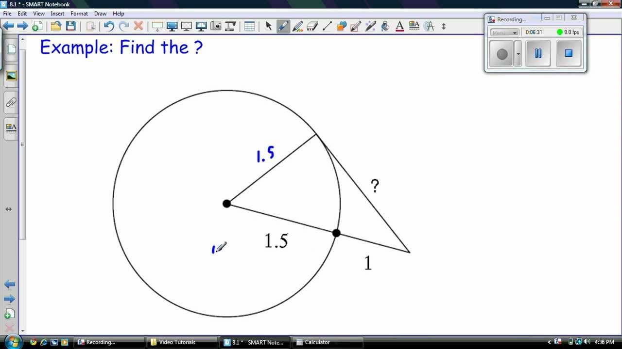 Tangent Lines To A Circle Education Math Free Math Worksheets Free Math