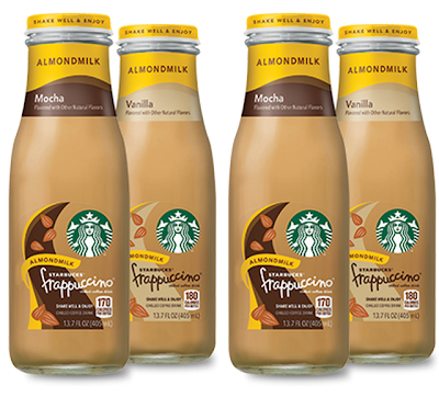 Starbucks Offers New Bottled Frappuccino With Almond Milk