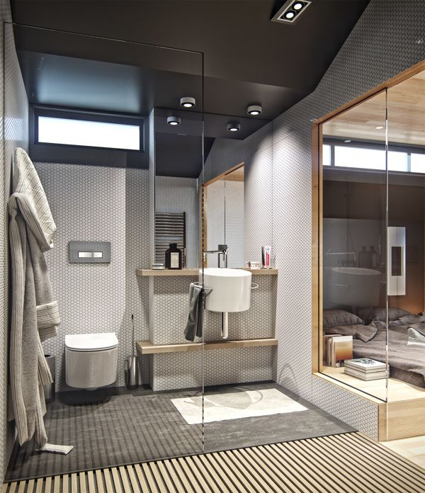 Small loft apartment with hidden office solution | Monolocale, Loft ...
