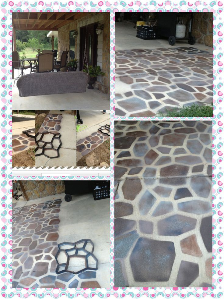 spray paint concrete floor  Google Search  Back yard