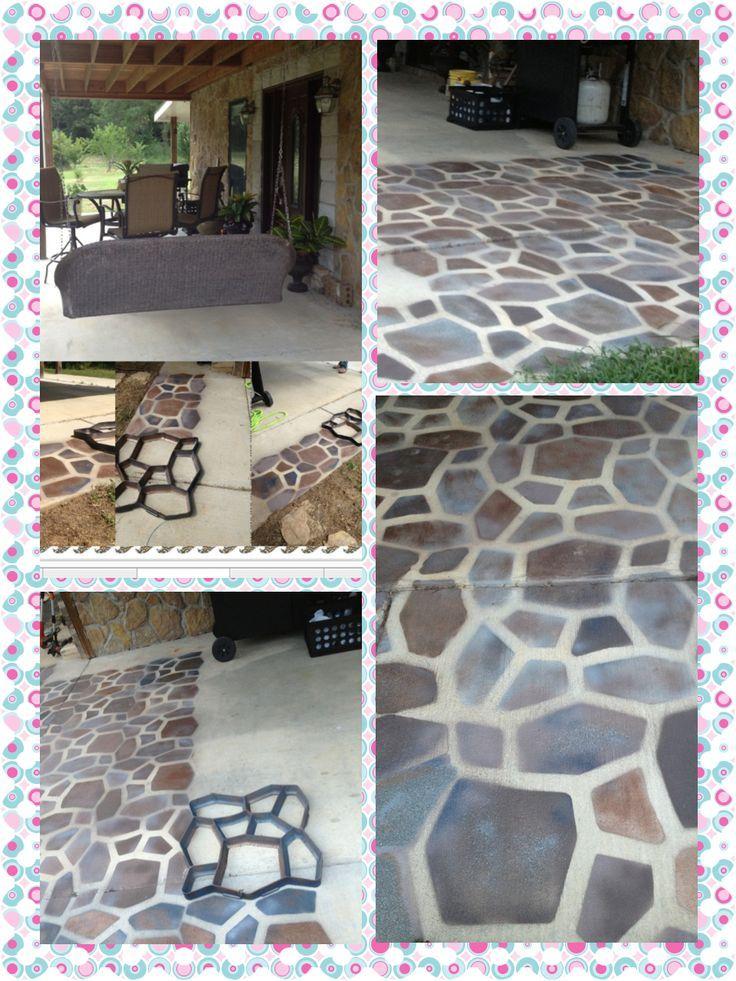 spray paint concrete floor Google Search Patio stones