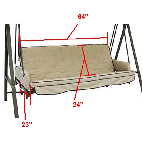 Replacement Swing Cushions Garden Winds Porch Swing Cushions Replacement Cushions Swing