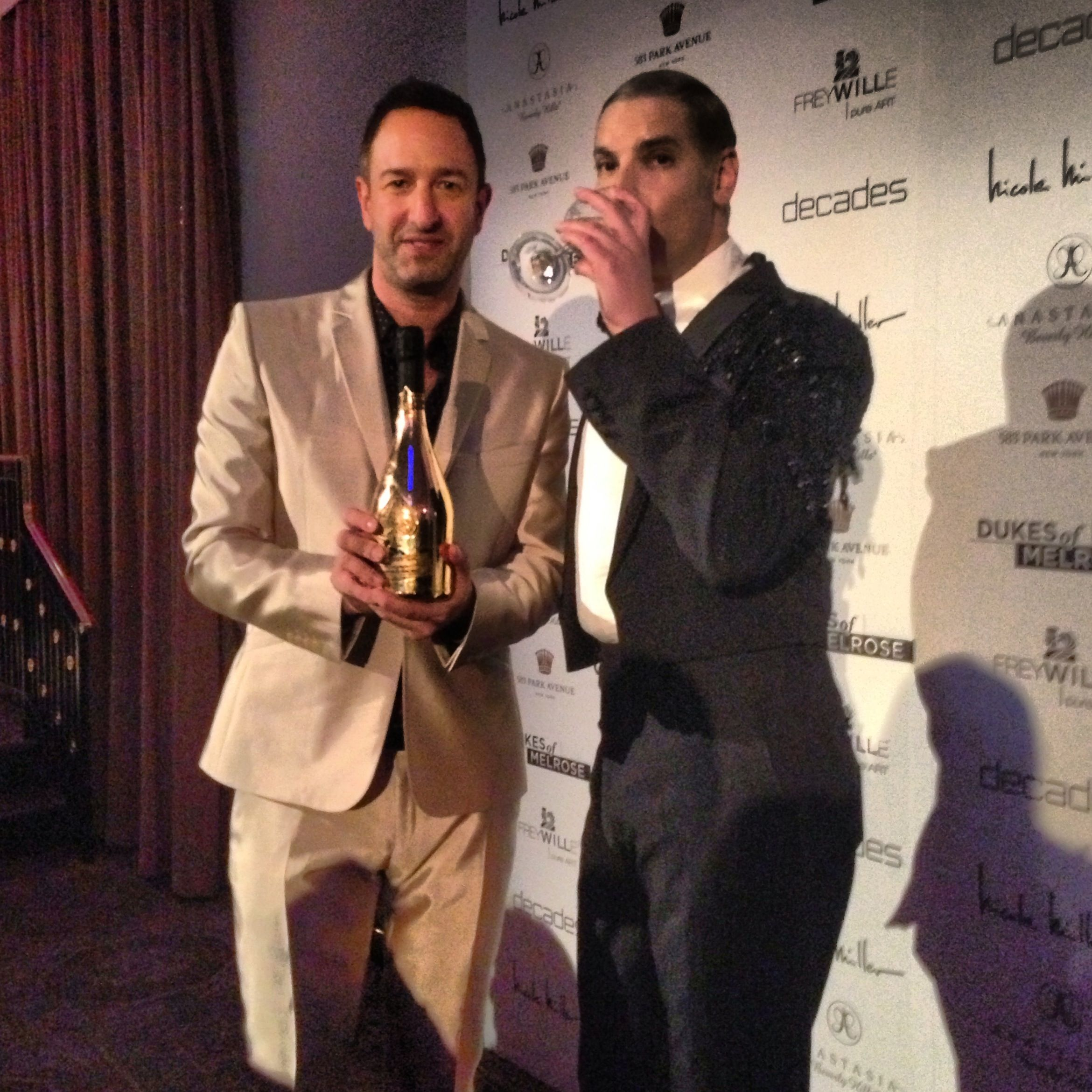 Christos and Cameron had the Armand de Brignac Brut at their Dukes of Melrose premiere party.