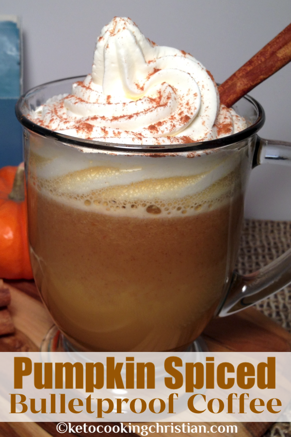Pumpkin Spiced Bulletproof Coffee - Keto and Low Carb Add sweet pumpkin flavor to your bulletproof coffee to get your morning started right! #ketorecipes #ketobulletproofcoffee #lowcarb #bulletproofcoffee #ketobulletproof #pumpkinbulletproofcoffee #ketocookingchristian #pumpkinspiceketocoffee