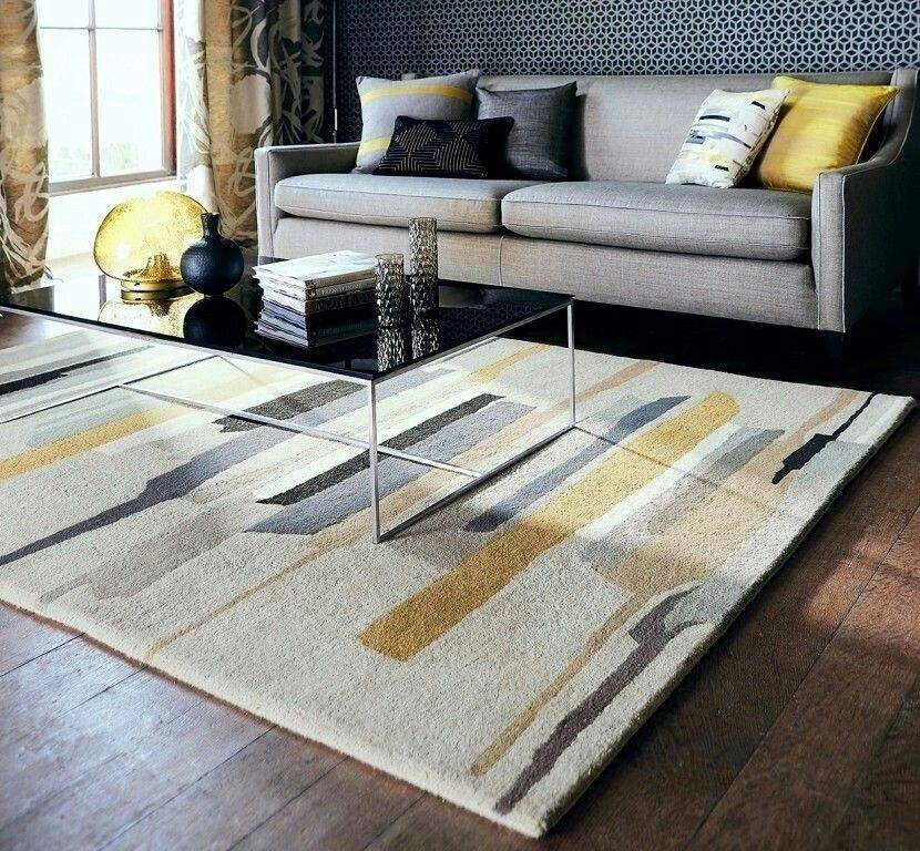 Moderner Teppich, Teppiche, Salons Modernes, Wohnzimmer, Wohnzimmer Ideen,  Wohnzimmer Sitz, Graue Wohnzimmer, Gewebetapete, Trellis Tapete