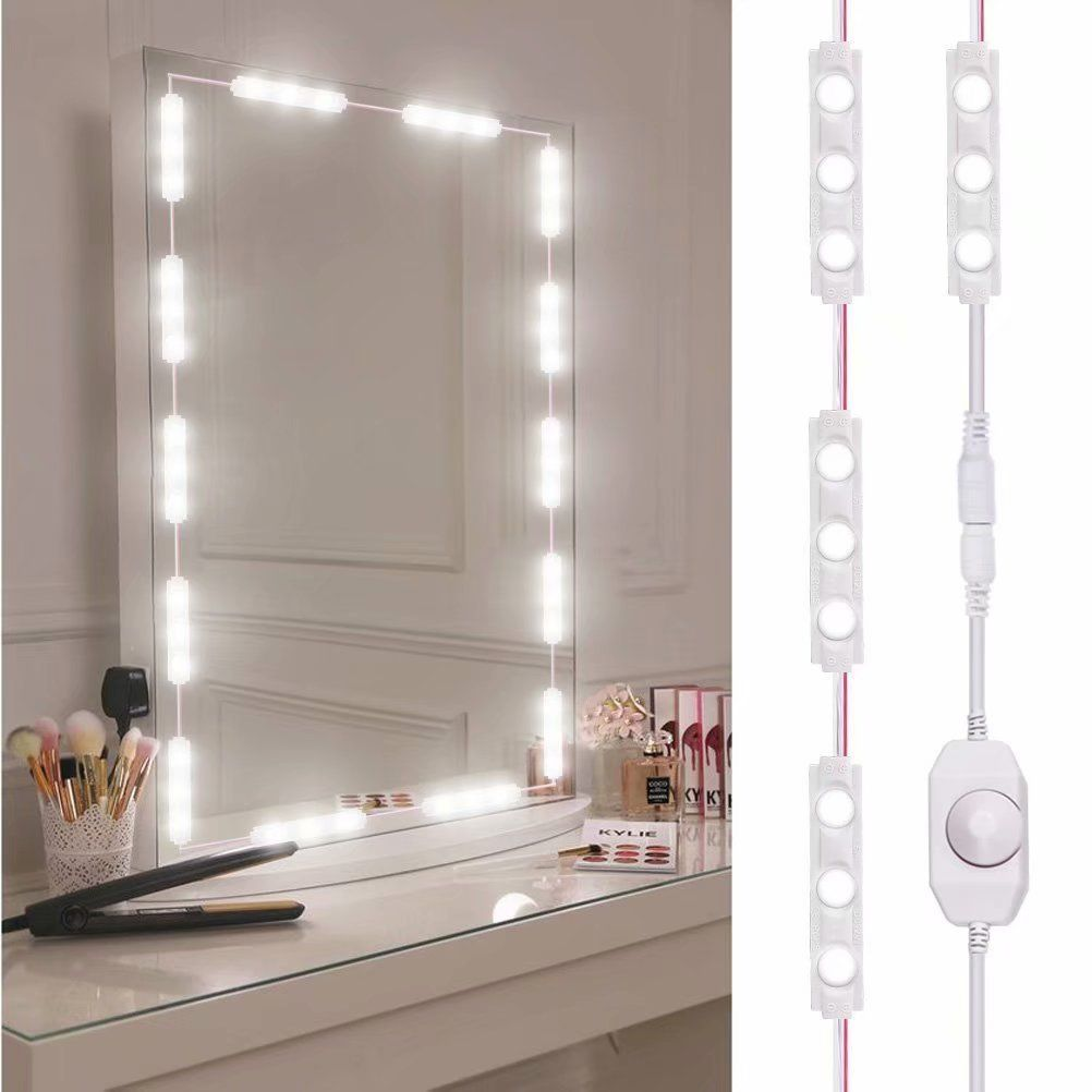 10ft Led Vanity Mirror Lights Kit Make Up Mirror Light Strip For Vanity Dressing Walmart Com In 2020 Diy Vanity Mirror Diy Makeup Mirror Makeup Vanity Mirror With Lights