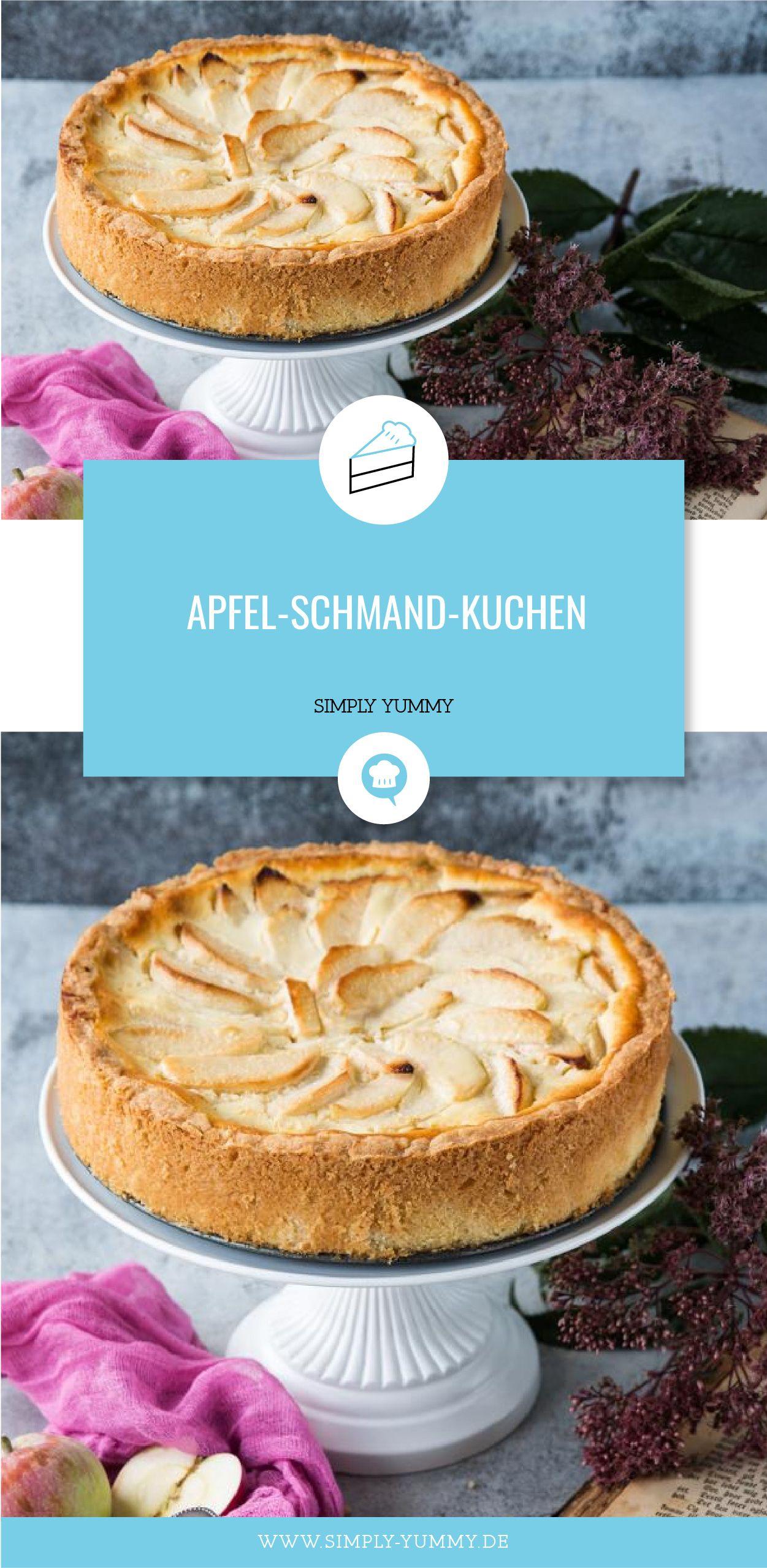 Apfel Schmand Kuchen Rezept Blogger Rezepte Pinterest