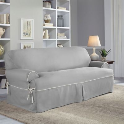 Perfect Fit Classic Twill T Sofa Slipcover Loveseat Slipcovers Slipcovered Sofa