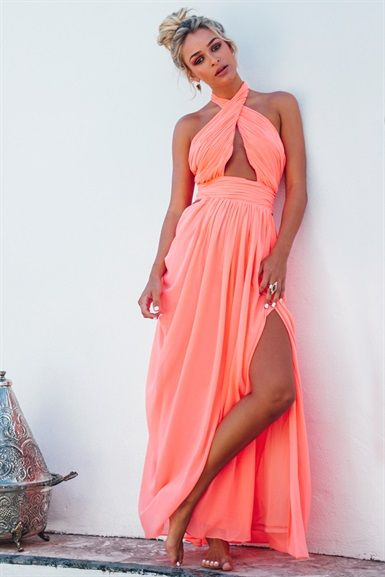 079390e44b Saadian Gown - Tangerine | SABO SKIRT | S A B O . F O R M A L ...