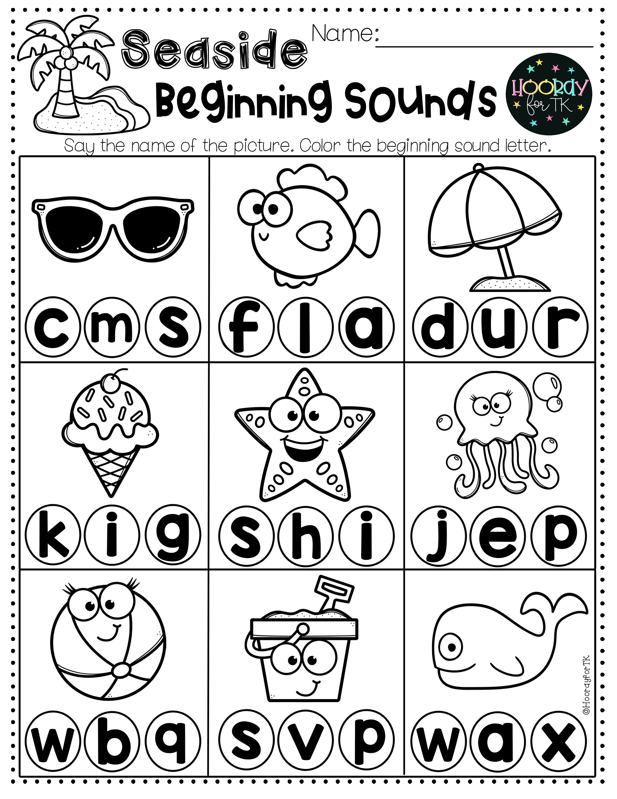 Transitional Kindergarten Summer Worksheets In